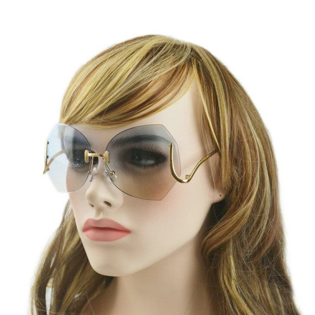 Fashion America sunglasses clear lens Women Glasses UV protection with box rimless 5009