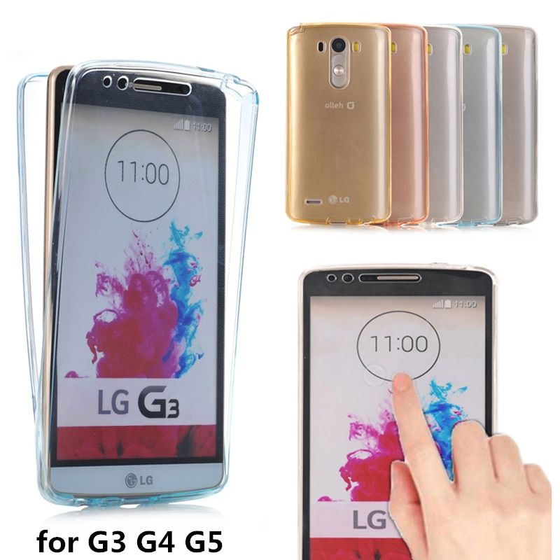 LG3 LG4 LG5 Crystal Touch Transparent Case for LG G3 G4 G5 Cover Soft 360 TPU Full body Silicone Clear Phone bag Cases G 3 4 5