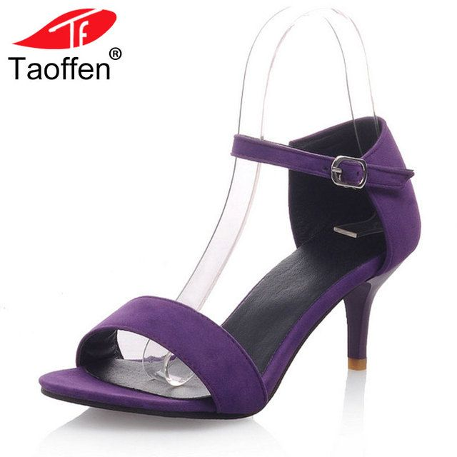 TAOFFEN Women High Heels Sandals T-Stage Classic Dancing Heeled Sandals Stiletto Party Wedding Shoes Footwear Size 34-42 PA00439