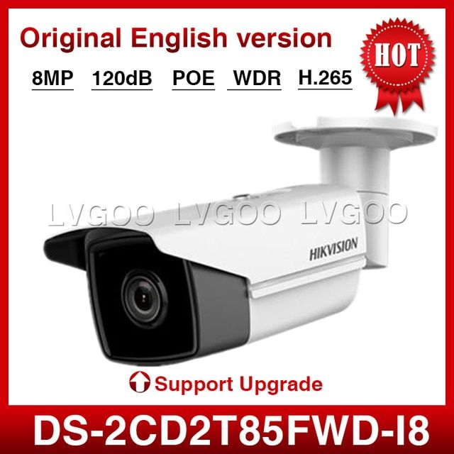 HIK DS-2CD2T85FWD-I8 Bullect Camera 8MP POE CCTV Camera With 80m IR Range Upgrade Version Of DS-2CD2T85FWD-I5