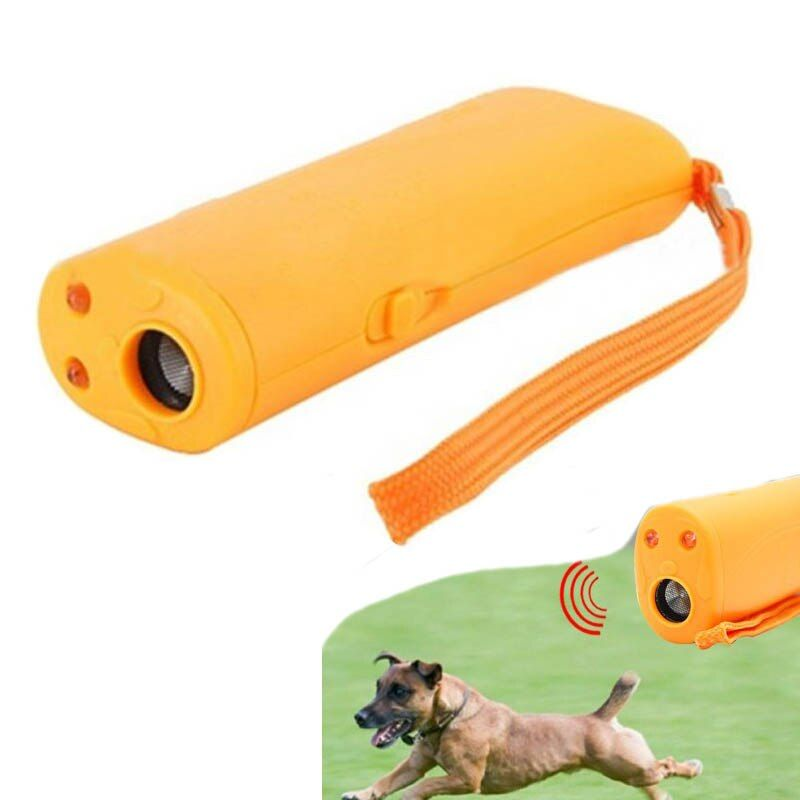3 in 1 Anti-Barking pet Dog Training Bark Stop Dog pet Training Device Handheld Ultrasonic Dog Repeller ultrasound control