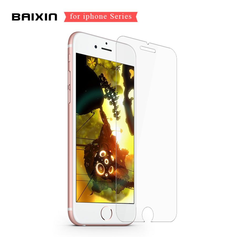 Baixin 2.5D 0.3mm Screen Protector for iPhone 7 4S 5 5s SE 6 s 6s plus Tempered Glass Film for iPhone 6 7 6plus Case Cover Glass
