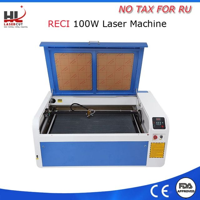 For russian No tax 100W 220V/110v New Software  USB Interface Water Cooling  Cutter CO2 CNC Laser Tube Laser Engraving