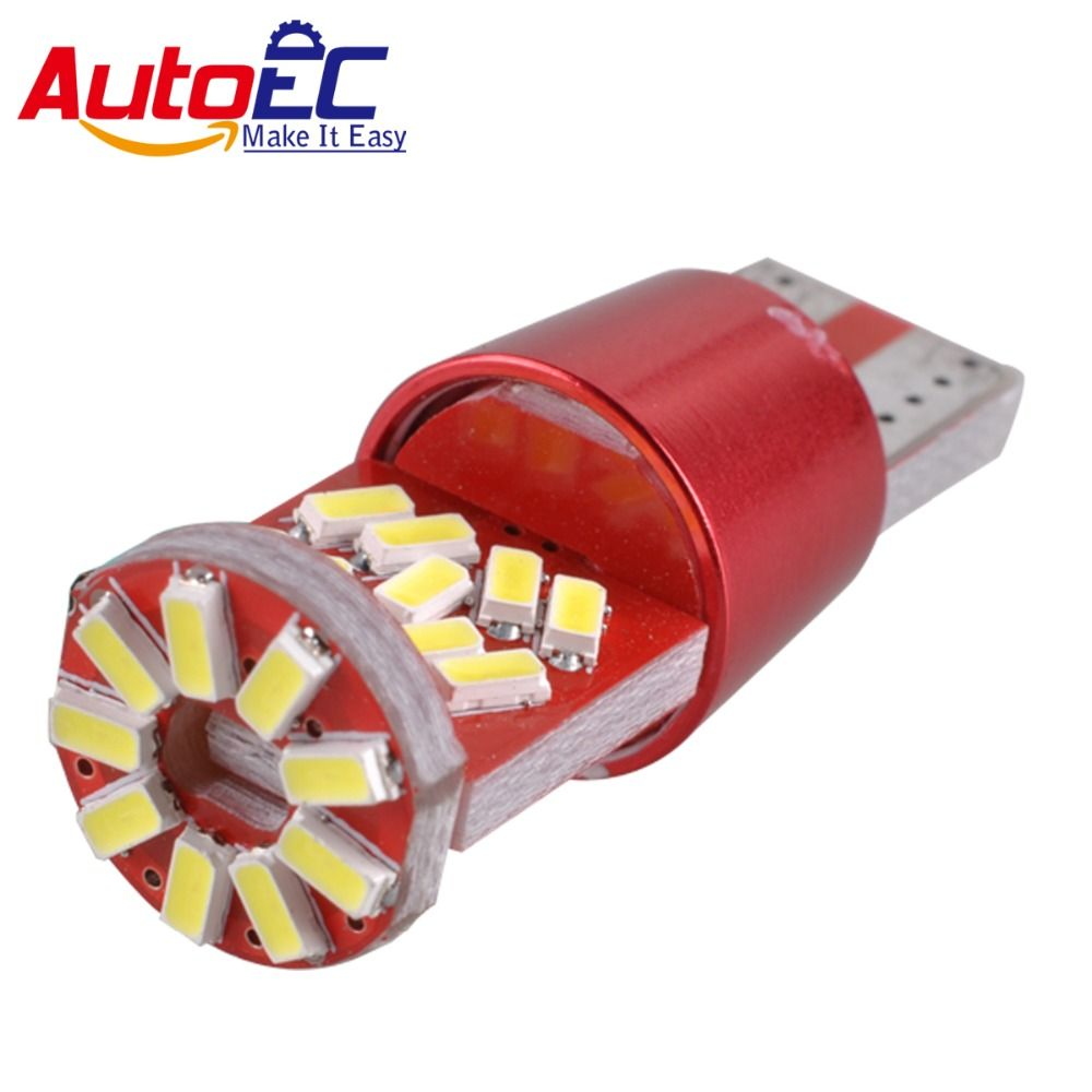 AutoEC 100x T10 3014 27 SMD LED Canbus Error Free Car Auto Marker Parking Clearance Light Bulb Lamp 12V-24V #LB169