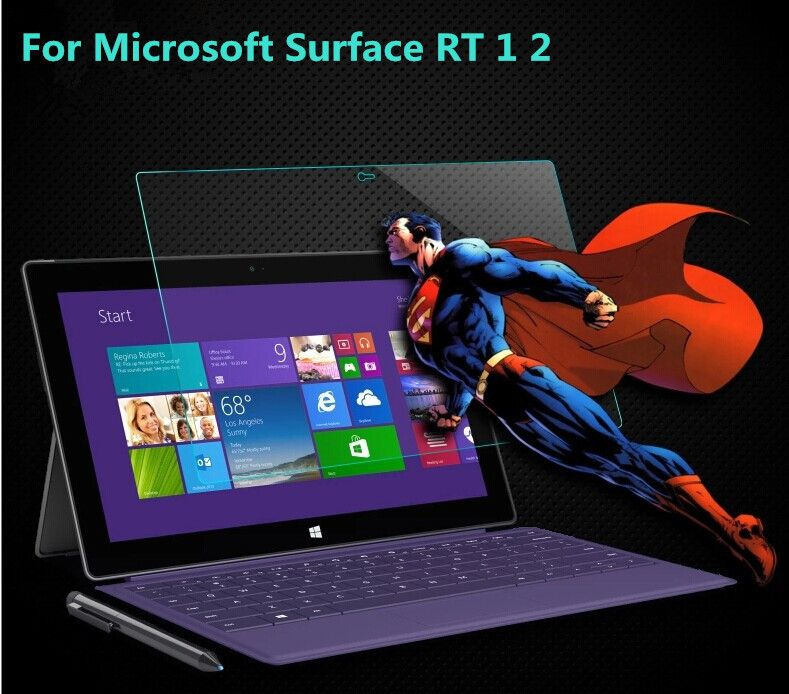 For Microsoft Surface RT/Pro 1 2 Tablet  2.5D Arc Edge 0.26mm Utra-tihin Anti-explosion Tempered Glass Screen Protector
