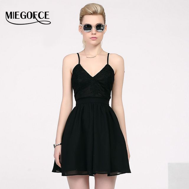 MIEGOFCE Summer Women Cute Dress European style Spaghetti Strap Sundress High Quality Evening Party Dress Hot Sell New arrival