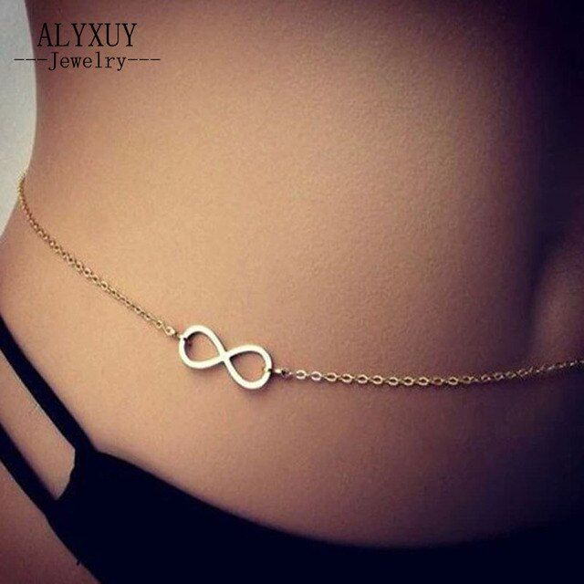New fashion body jewelry Infinity Belly Chains gift for women girl  wholesale BN11