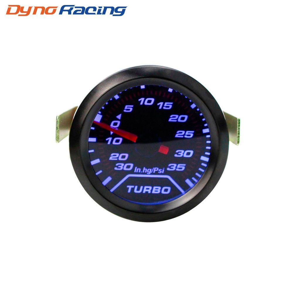"2"" 52mm Auto Turbo Boost Gauge PSI Smoke Dial Blue LED Light Interior Dash Car Meter YC100179"