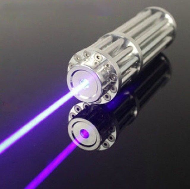 3000mW 445nm blue handheld laser with battery charger, laser glasses, 5 laser heads, aluminum case