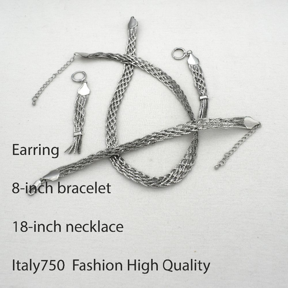 "Set For Women Wholesale ""ITALY 750 ""Color Jewelry One colorNew Best Sellrs"