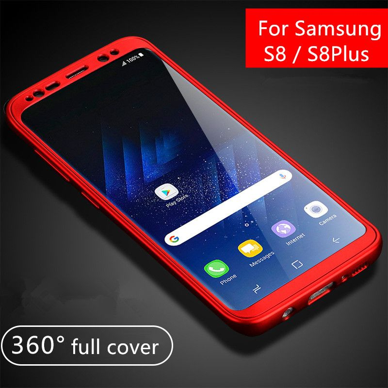 For Samsung Galaxy S8 Case 360 Degree Full Body Protection Matte PC Soft TPU Back Cover For Samsung S8 Plus Silicone Phone Case