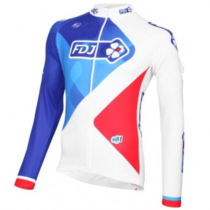 SPRING SUMMER 2016 FDJ PRO TEAM ONLY LONG SLEEVE ROPA CICLISMO CYCLING JERSEY CYCLING WEAR SIZE XS-4XL