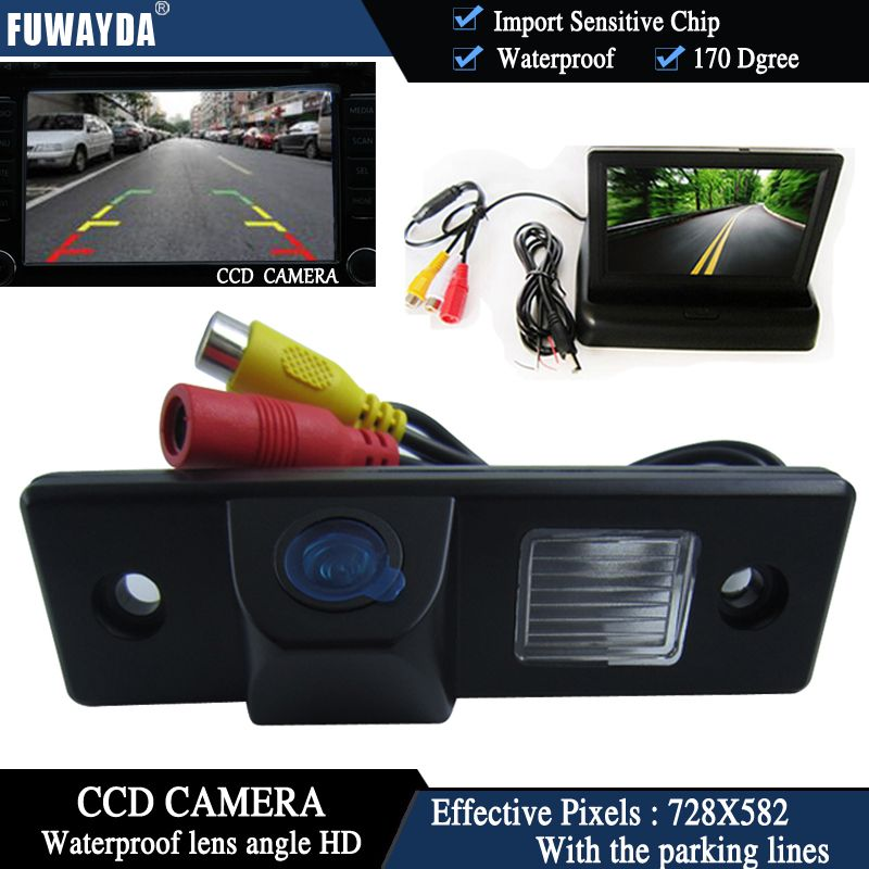 FUWAYDA CCD Chip Car RearView Camera for CHEVROLET Epica Lova Aveo Captiva Cruze Matis Lacetti+4.3Inch foldable LCD TFT Monitor
