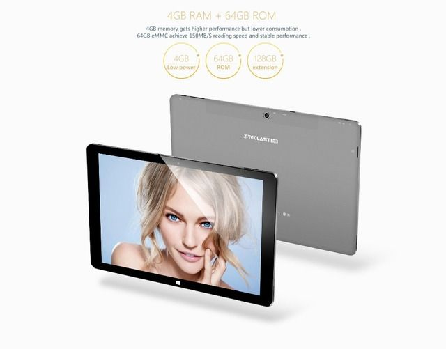 "Original Teclast Tbook 11 10.6"" 2in1 Tablet PC Windows10&Android 5.1 Dual OS Intel Z8300 4GB RAM 64GB ROM Tablet PC keyboard"