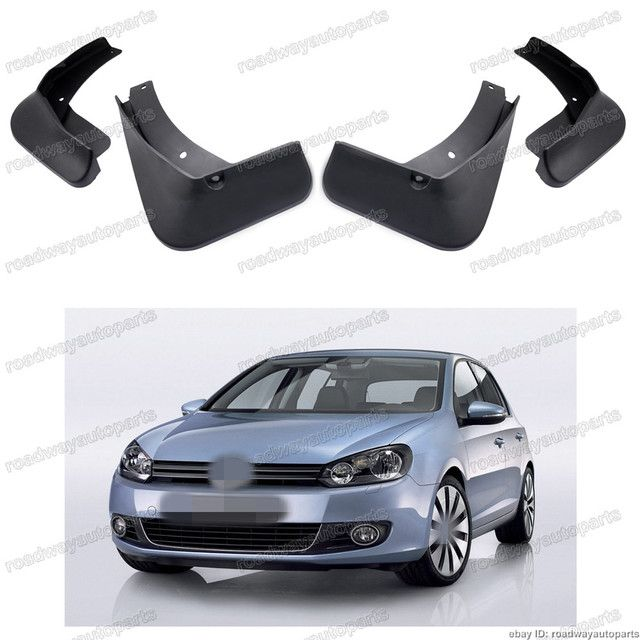 4Pcs/Set VW Mud Flaps Splash Guard Fender mudguards for Volkswagen GOLF 6 VI