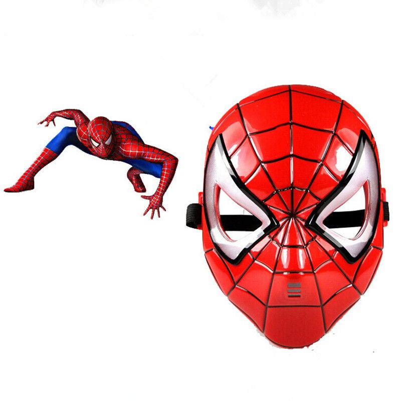 Children's Spiderman Mask Toddle Boys Avenger Marvel Masks LED Glowing Ironman Captain America Hulk Batman Party Cartoon Mask
