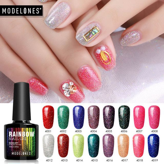 Modelones Nail Gel Polish Neon Nail Gel Polish Soak Off UV Colorful Nail Colors Art For gel nail polish Long-lasting Gel Kit