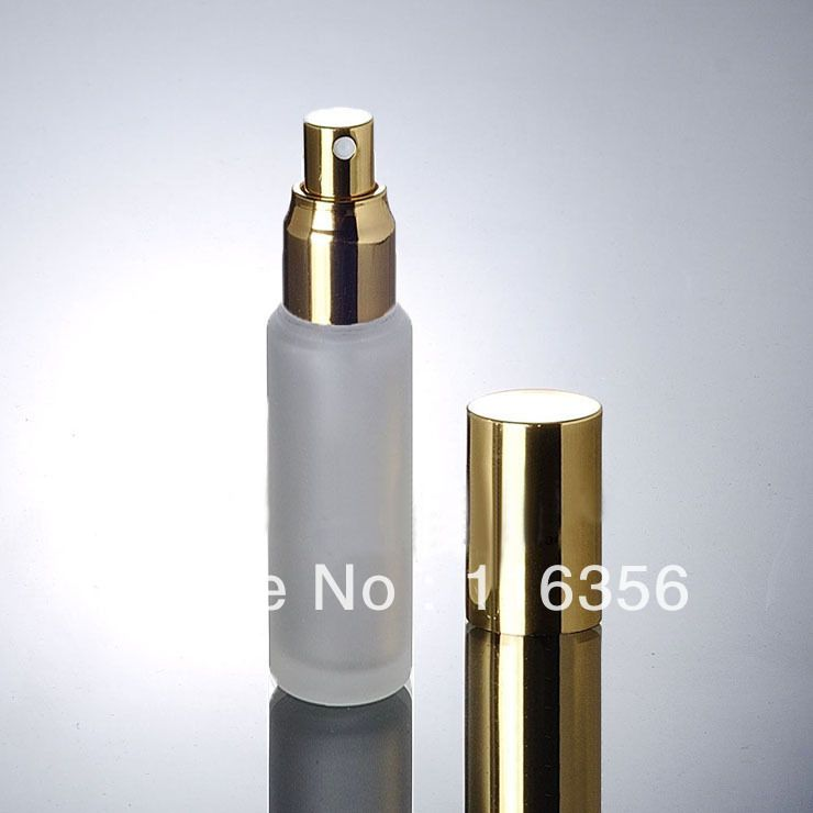 50ML  frosted glass bottle with gold cap, lotion bottle for cosmetic packaging
