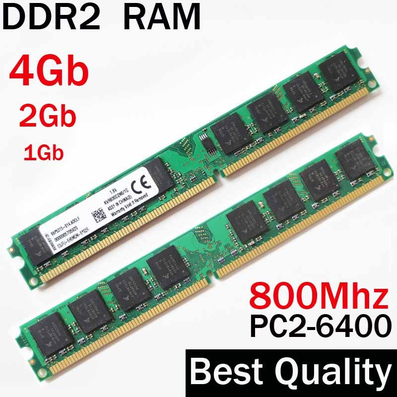 4Gb RAM DDR2 800 4Gb 2Gb 1Gb - DDR2 800Mhz 4Gb / For AMD for Intel memoria ram ddr2 4Gb single / ddr 2 4 gb memory RAM PC2 6400
