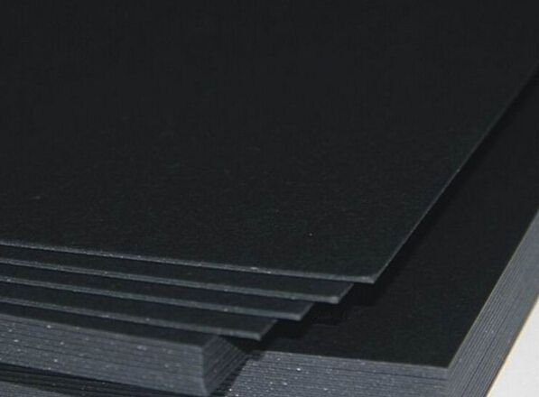 2 Sheets 1.2mm Black Cardstock For Card Making Heavy 900gsm 210 x 297mm