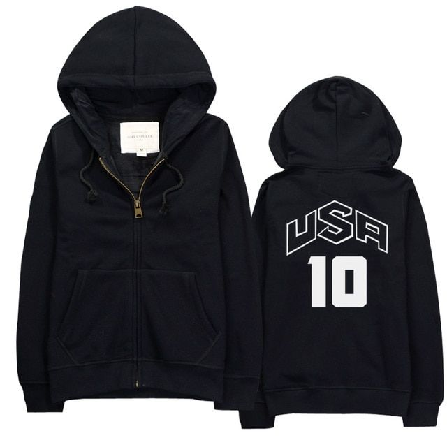 Personality brand clothing team USA jersey NO.10 printed autumn hoodies fashion men cotton sweatshirt brand funny streetwear