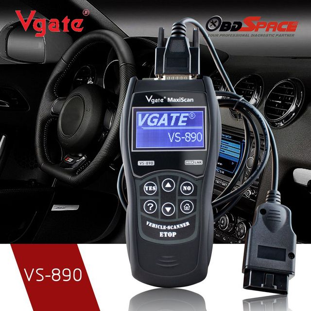 2017 OBD2 Automotive Scanner Maxiscan Vgate VS890 Fault Code Reader EOBD JOBD CAN-BUS Multi-language Scanner for Car Diagnostics