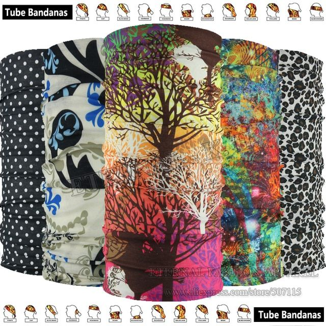 EXPRESS Shipping Wholesale 100pcs 2016 New Patterns Magic Headband Tube Cycling  Multifunctional Bandana For Outdoor Sports