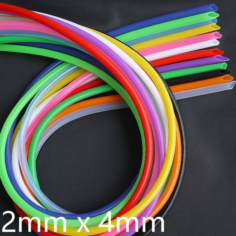 Silicone Tube ID 2mm x 4mm OD Flexible Rubber Hose Thickness 1mm Food Grade Soft Milk Beer Drink Pipe Water Connector Colorful