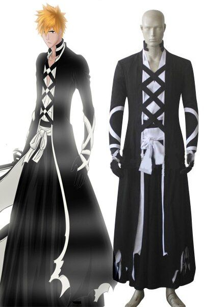 Bleach Kurosaki ichigo Cosplay Costume Bleach cosplay outfits Halloween cosplay costumes for adult