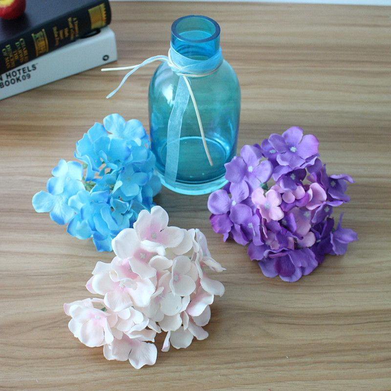 Artificial Hydrangea Silk Flower MULIT COLOR DIY Decorative Flower for Wedding Party Birthday Decoration Table accessories