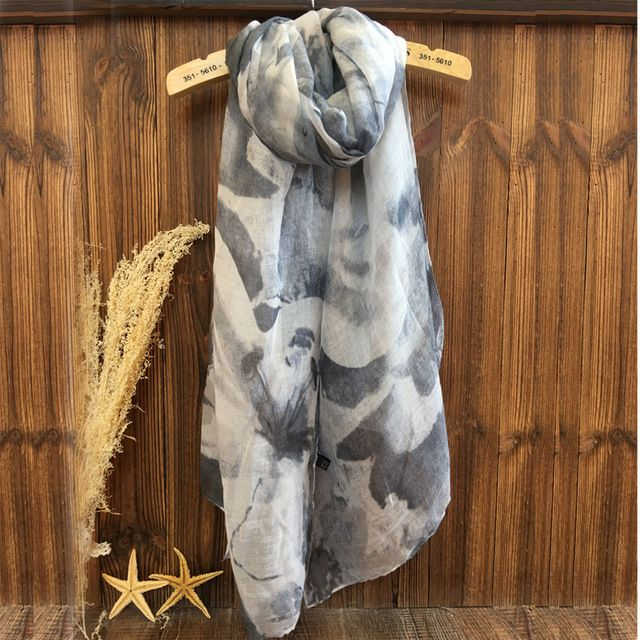 2016 Women Ombre Floral Pattern Quality Scarf Cotton Scarf 10pcs/Lot