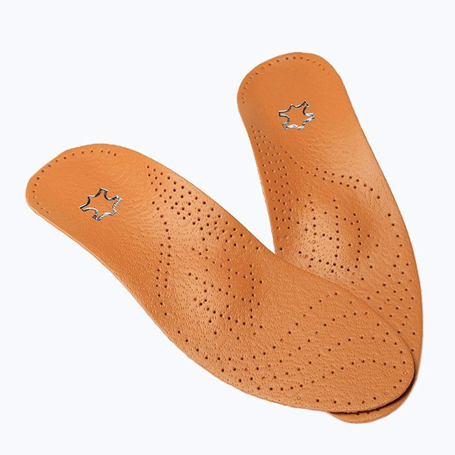New Leather Latex Orthopedic Insole Antibacterial Active Carbon Orthotic Arch Support Instep Cowskin Flat Foot Shoe Pad HT0055