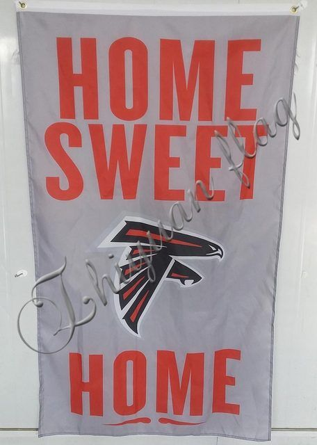 Grey Atlanta Falcons Flag with American FLAG banner 100D Polyester 90x150cm 2 Metal Grommets 3x5ft