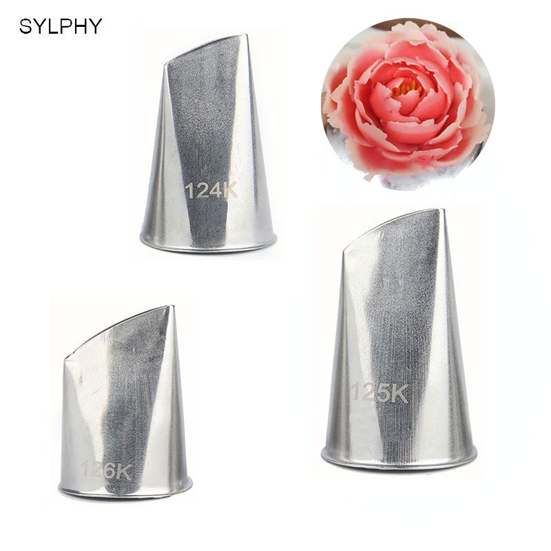 3 pcs Stainless steel piping icing nozzle set cake decorating tip sets metal cream tips cake cream decoration pastry tools