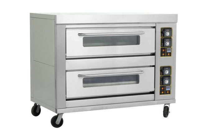 Commercial 2decks 8pans cake bread pizza gas baking oven, double layers eight trays gas baking equipment food baking oven sale