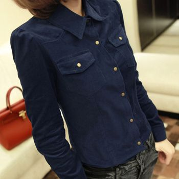 2014 spring models plus fertilizer to increase fat people dress Slim thin corduroy shirt large size women's 2XL-6XL