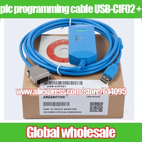 plc programming cable USB-CIF02 + for Omron / PLC download data CPM1A / CPM2A / CQM1 / C200HS / C200HE Electronic Data Systems