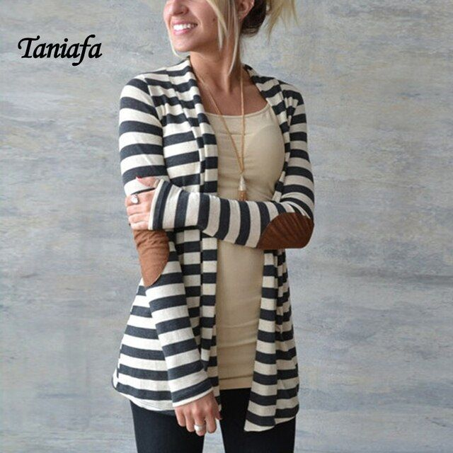New Zebra White Black Striped Outerwear Womens Patching Pu Leather Female Cardigan Women Autumn Oversized Knitted Sweater
