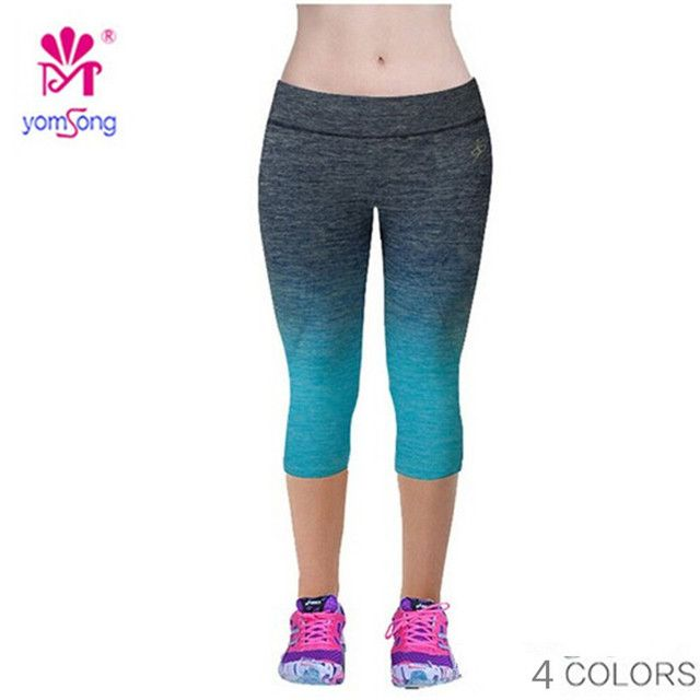 Fitness Leggings Women Wholesale Capris Legging Fitness Mid Calf Pants  Spandex  Capris Pants180