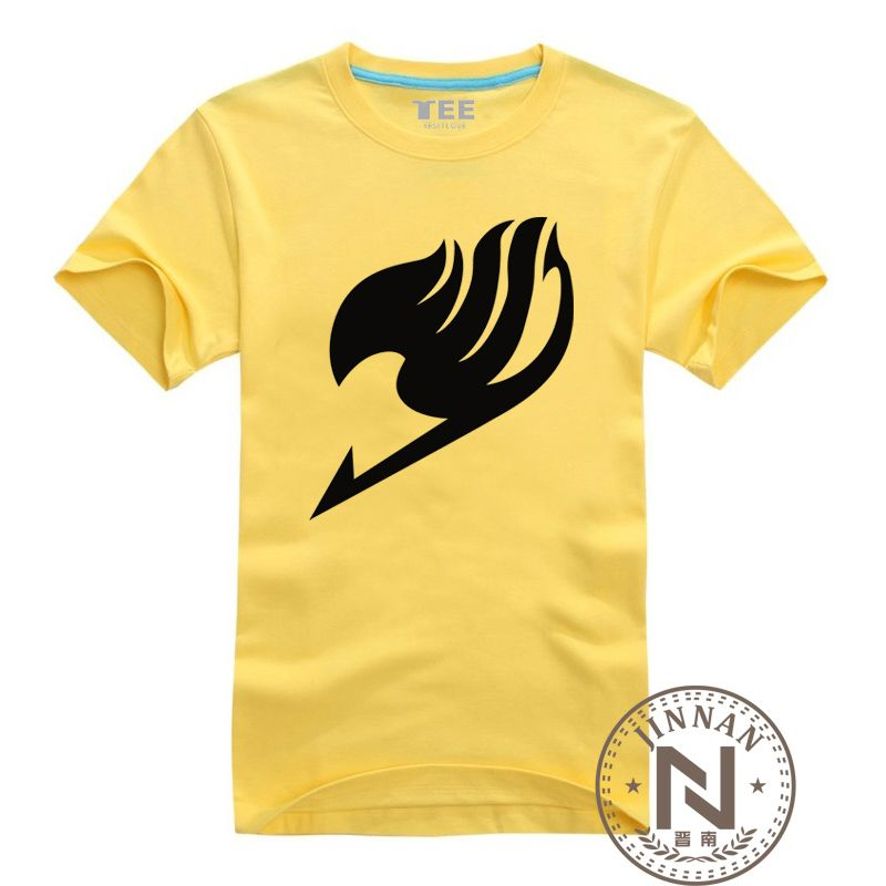 Fairy Tail Clothing T Shirt Men Boy Cotton Manga T-Shirt Anime Tshirt