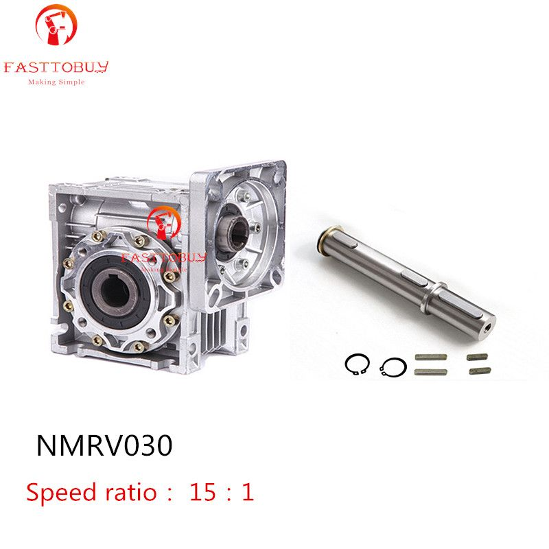 ToAoto NMRV030 Worm Gearbox + Output shaft Speed Reducer Ratio 15:1 Reducer Matched With NEMA23 Servo/Stepper Motor Promotional