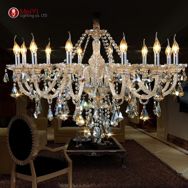 New Luxury Chandeliers and pending K9 Crystal Chandelier Lighting Lamp 12 Lights Hotle Hall lighting and VIlla Free Shipping
