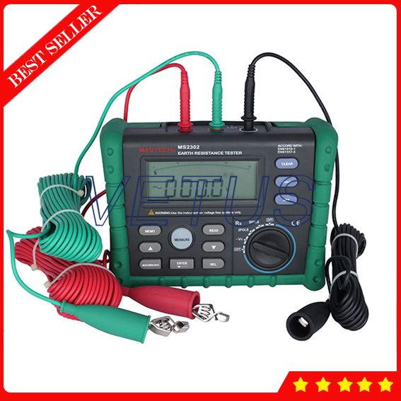 MS2302 Digital Earth Ground Resistance Tester with Megger Insulation Meter LCD Display