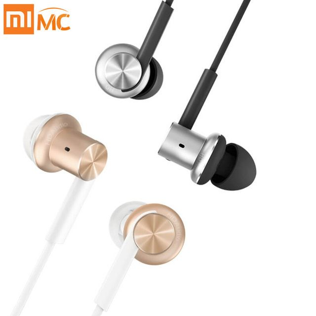 Original Xiaomi Earphones Circle Metal Hifi Hybrid Earpods with Mic for Phone Iphone IOS Android MP3 MP4 3.5mm Universal