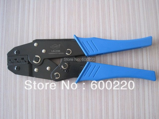 Ratchet hand crimping tools for non-insulated open plug type connector LSD LS-03B  0.5-6mm2 17-12AWG