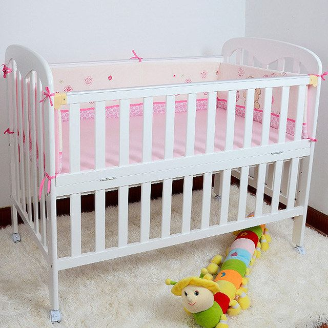 Wooden Baby Bed High Quality 120*65cm Crib For Children Cot For Kids Game Bed With Wheels