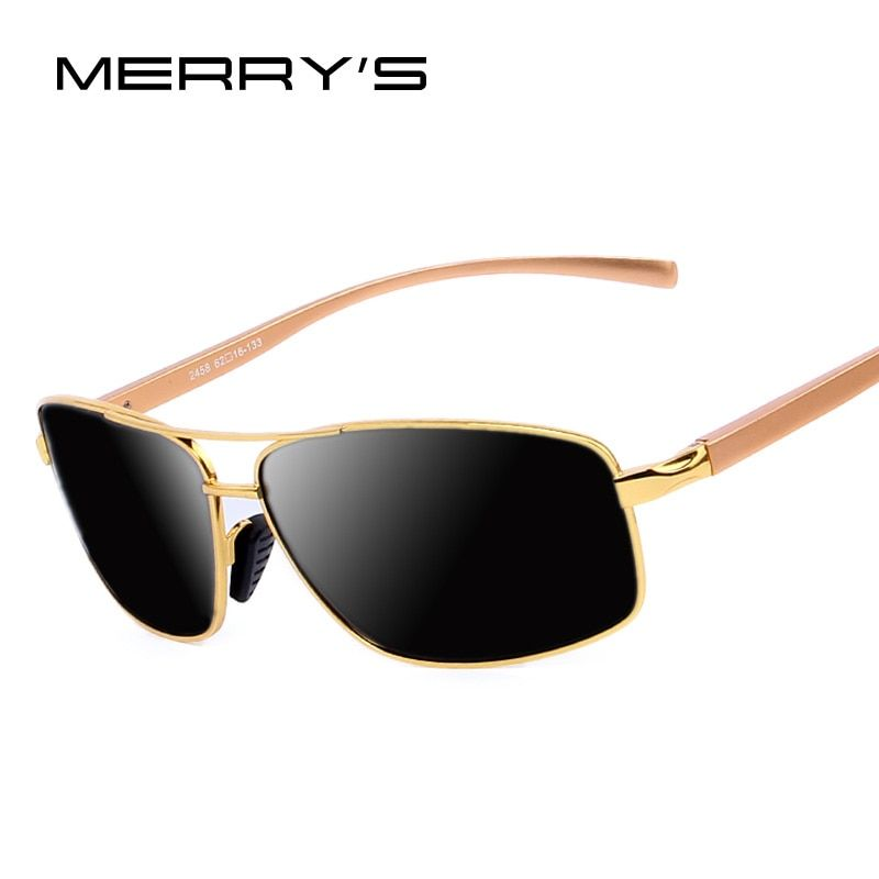 Men Luxury Polarized Sunglasses Aluminum Alloy Classic  Brand Men Sunglasses Gold Frame High quality Original Package