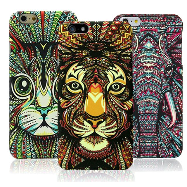 New Style black cat cover case for coque iphone 6 iphone6 s 4.7 coque animal case cat tiger elephant by pc cute Cartoon Phone