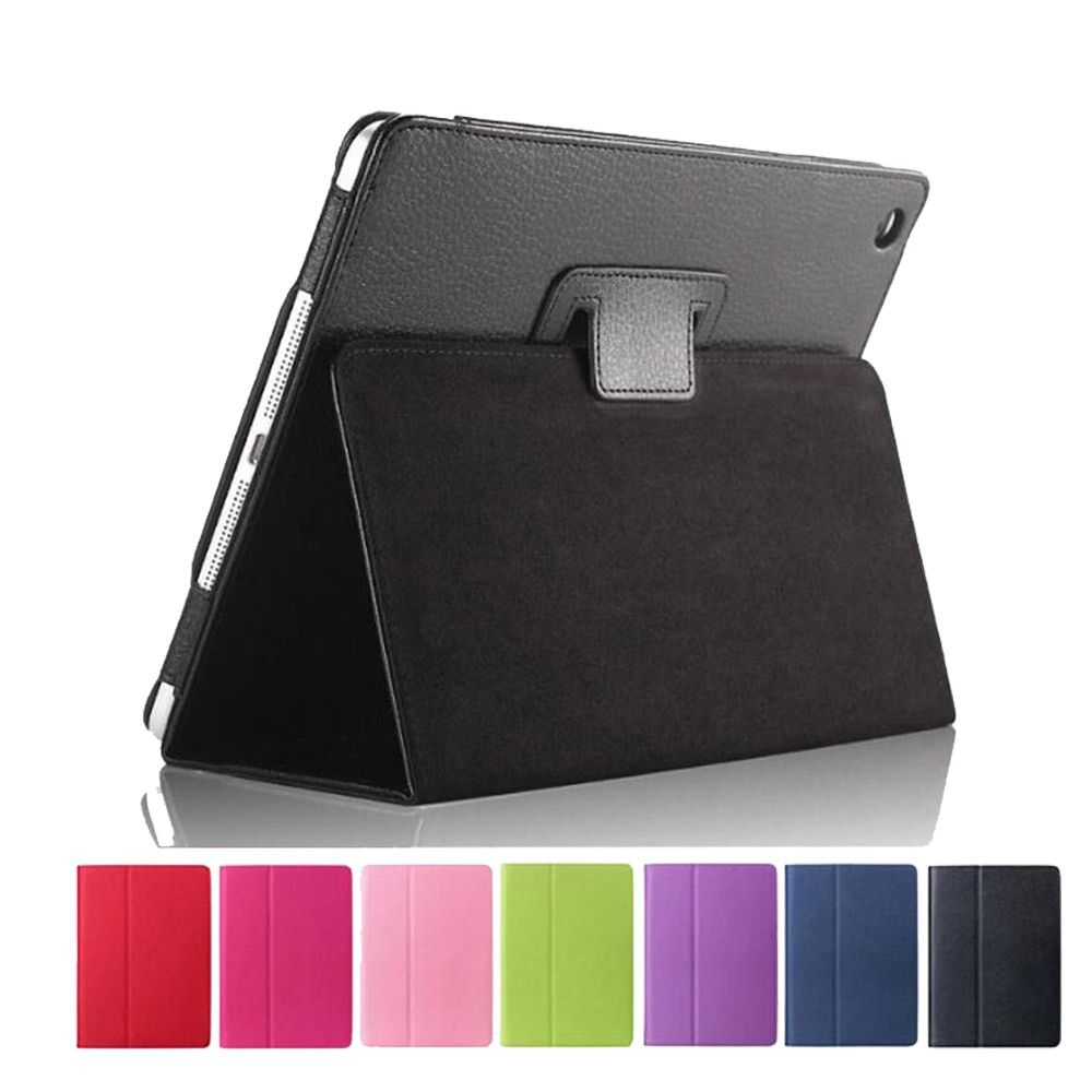 Case for iPad 2018 9.7 Slim Folding Stand Smart Cover Auto Wake PU Leather Case for iPad 2017 9.7 inch For ipad Air 1 Air 2+Pen