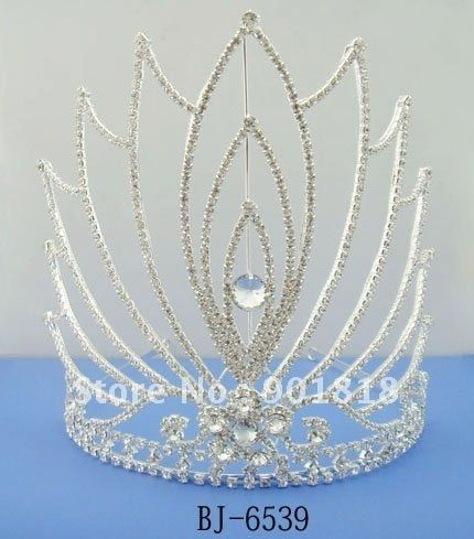 Free shipping fashion large wedding tiara 20cm tall,10 pcs/lot could mixed design/lot F2097